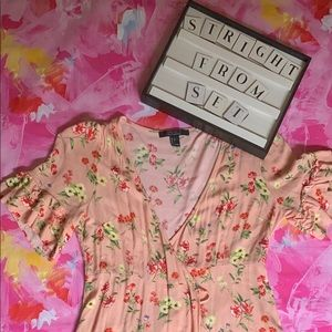 Forever 21 flower wrap dress